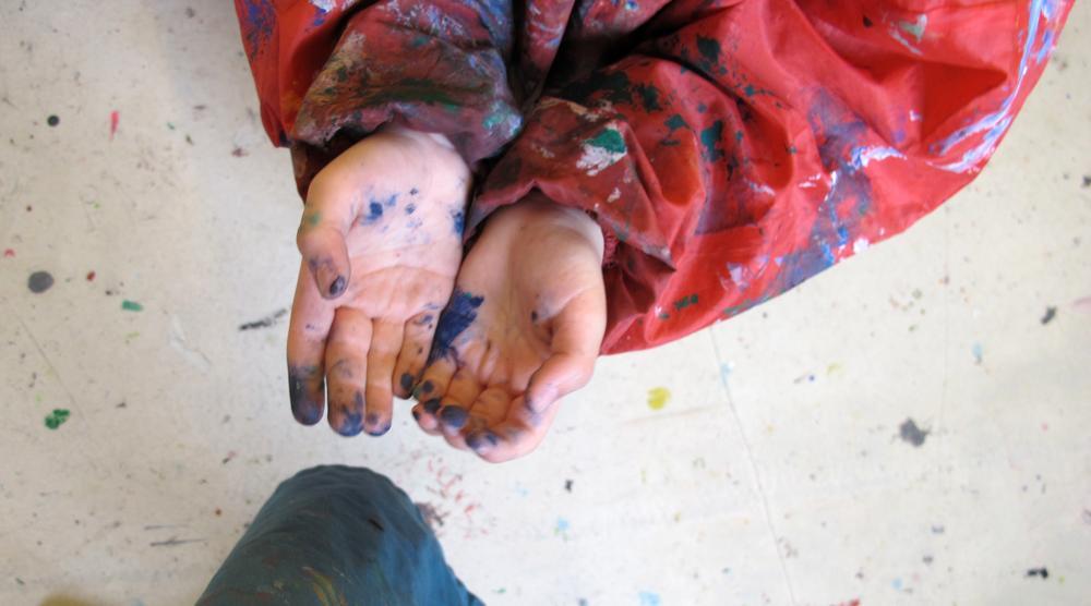 Kinderkunsthaus - Bunte Hände