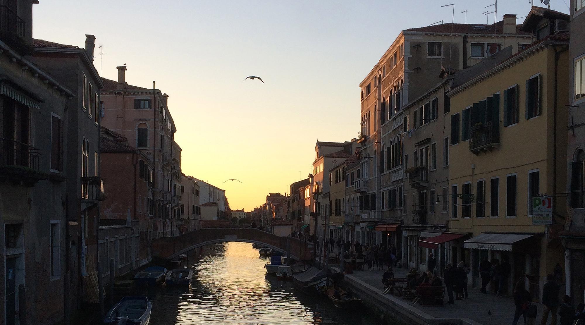 Venedig mit Kindern - Daemmerung