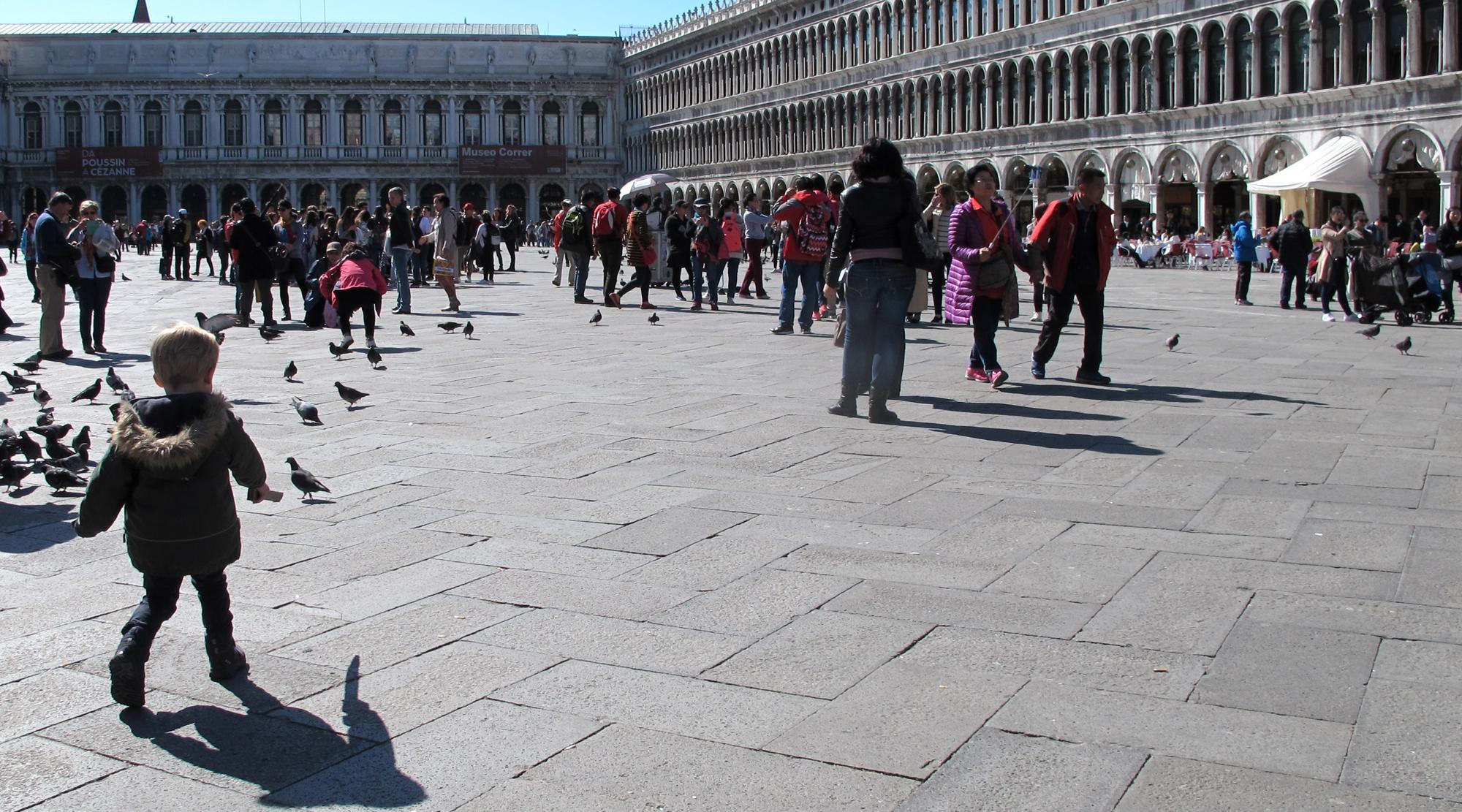 Venedig mit Kindern - Markusplatz