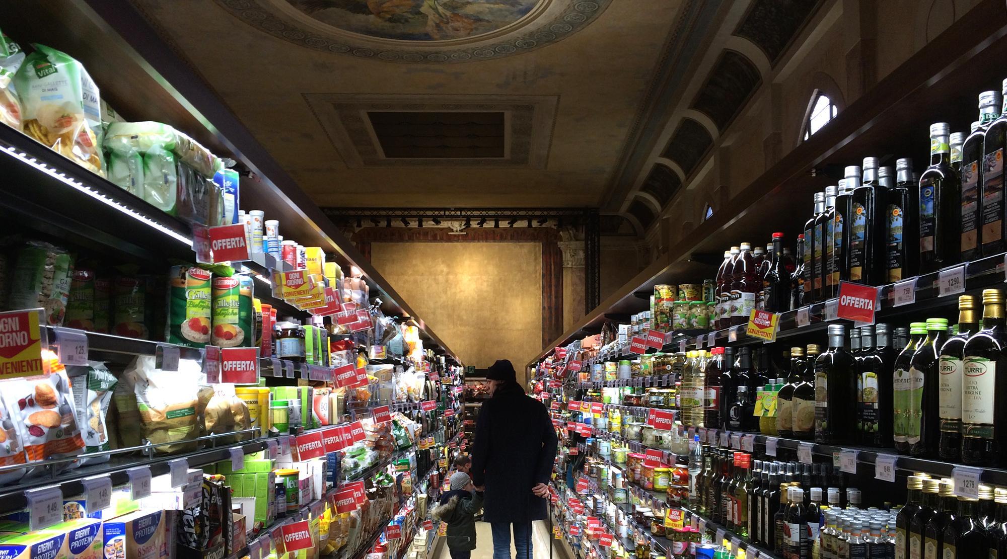 Venedig mit Kindern - Supermarkt