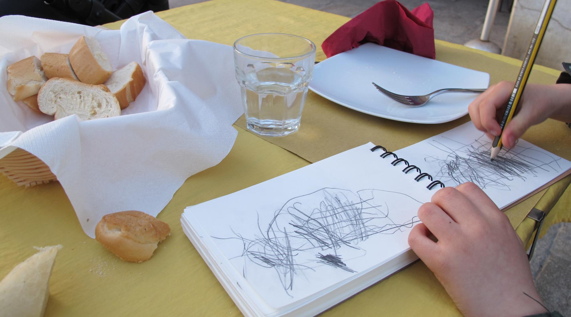 Venedig mit Kindern - Zeichnen