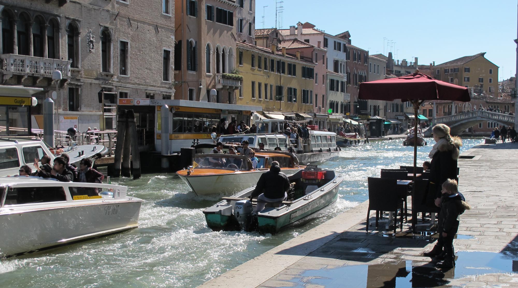 Venedig mit Kindern - Wasserstrasse