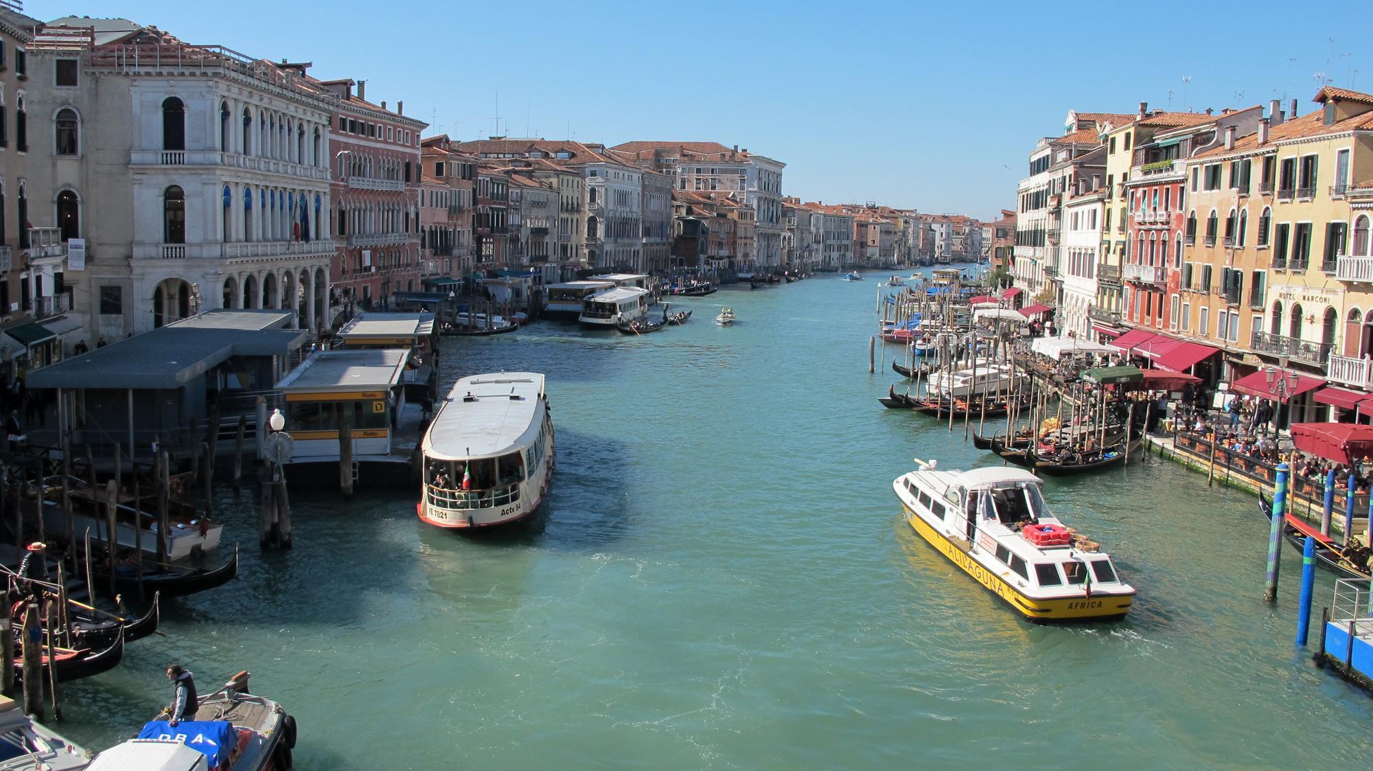 Venedig mit Kindern - Blick Rialto
