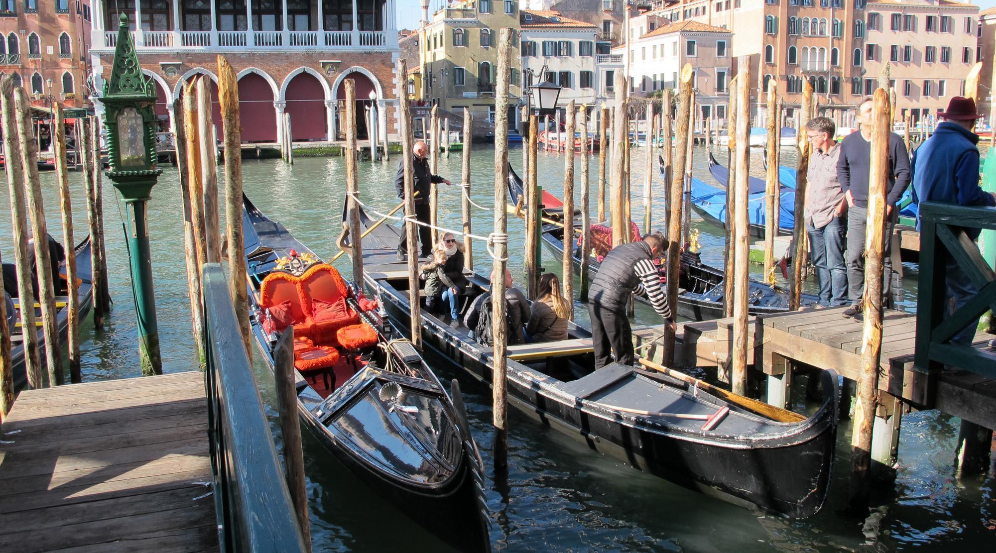 Venedig mit Kindern - Traghetto