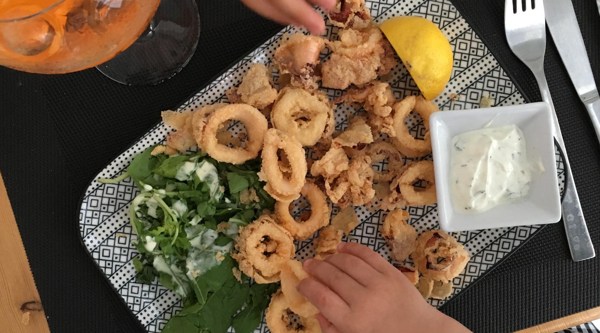 Inselhopping Ägäis - Tintenfisch