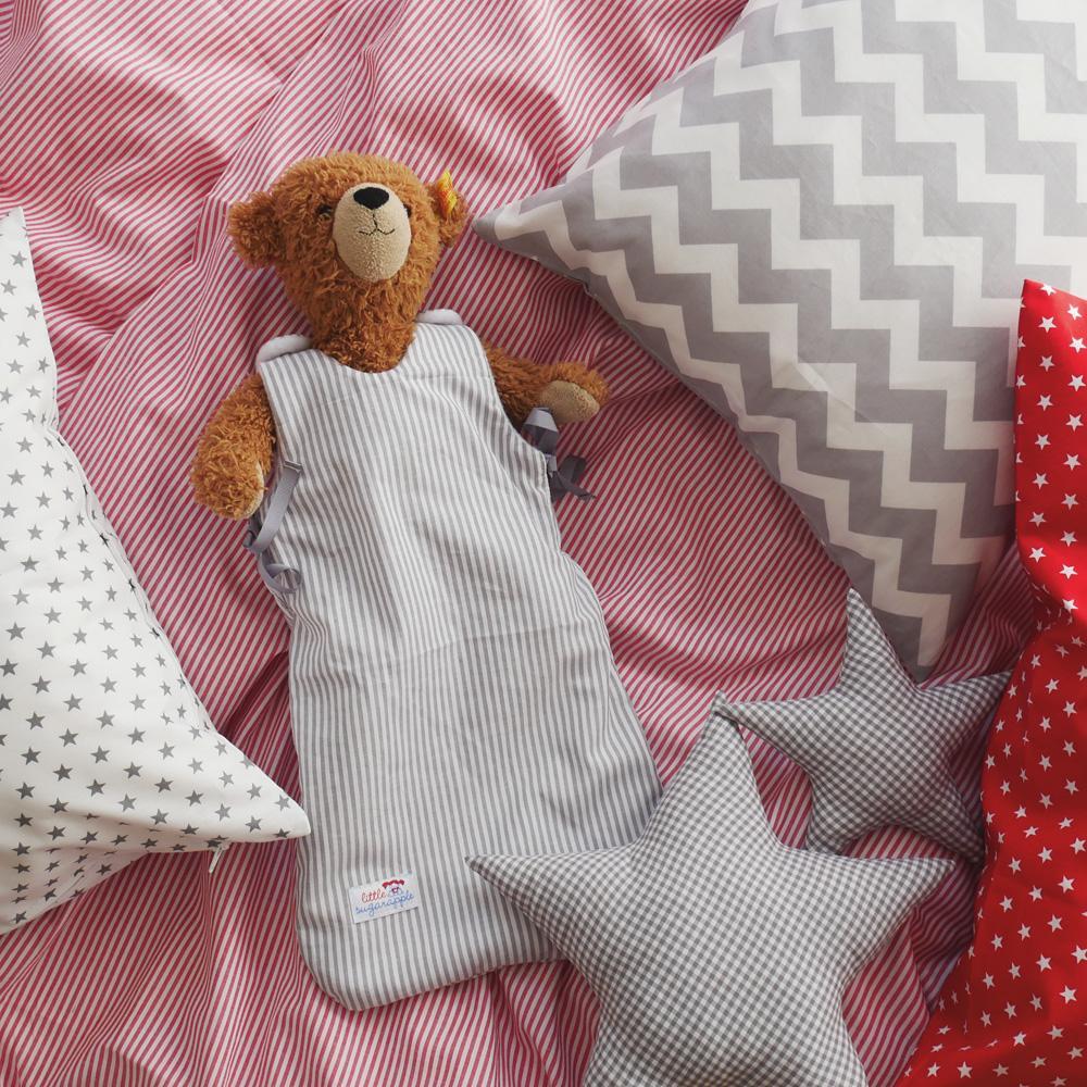 Geschwisterbett - Teddy mit Mini-Schlafsack