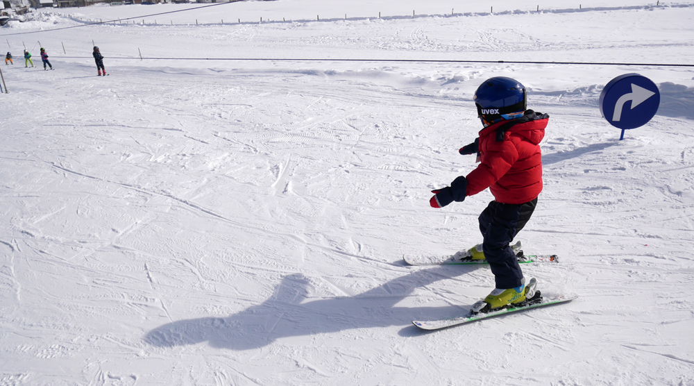 Skikurs - erstes Fahren