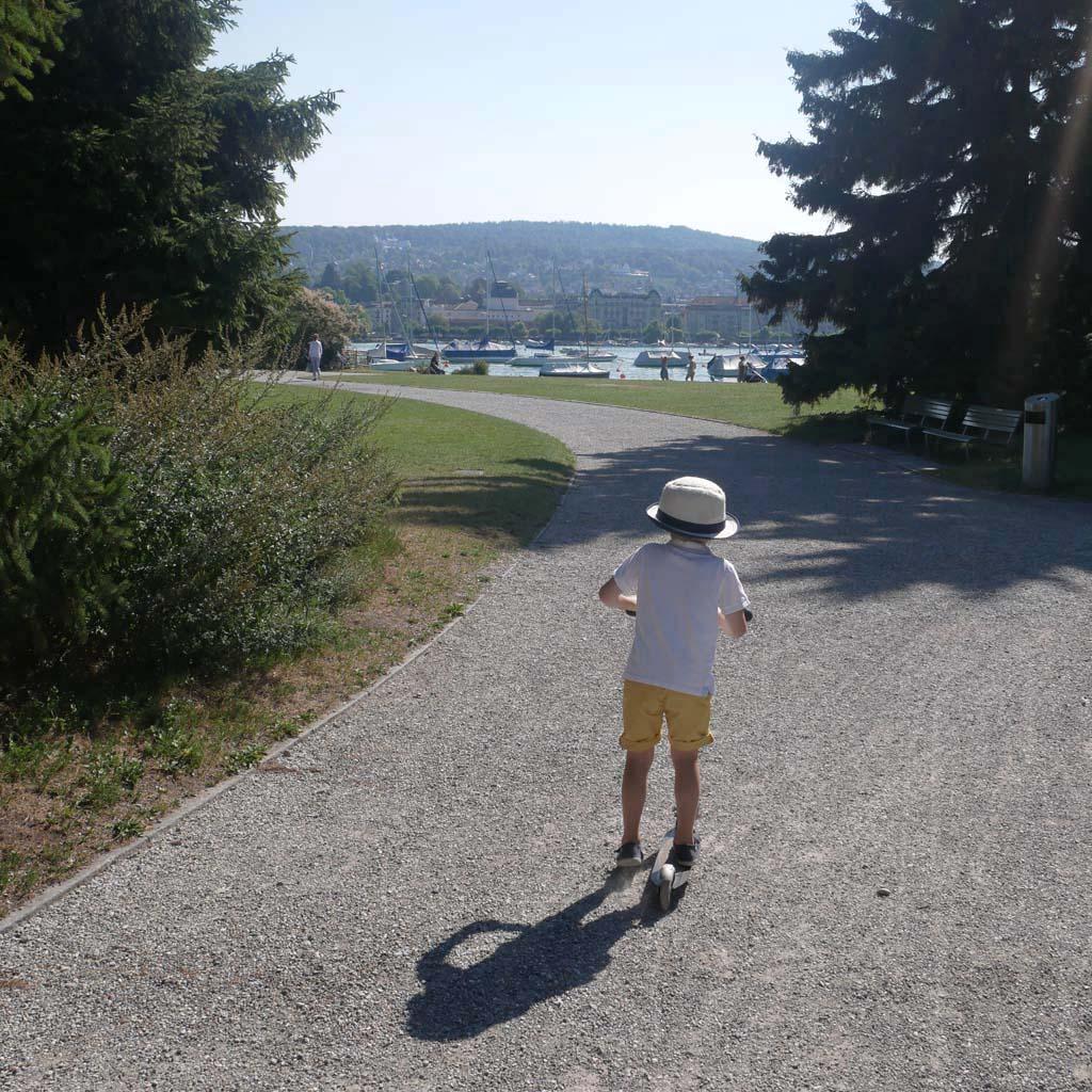 Zürich mit Kindern - Roller