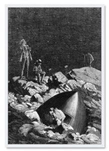 Bilderwand im Kinderzimmer - Jules Verne 1