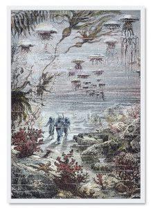Bilderwand im Kinderzimmer - Jules Verne 2