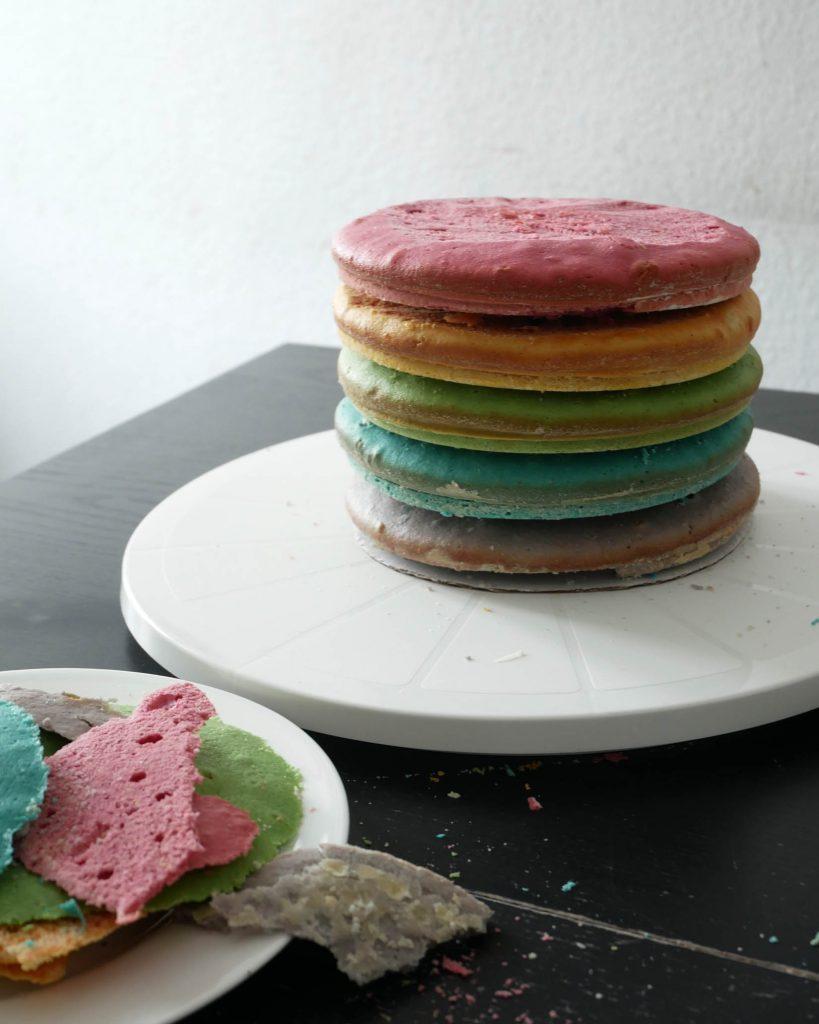 Regenbogen-Torte Zubereitung
