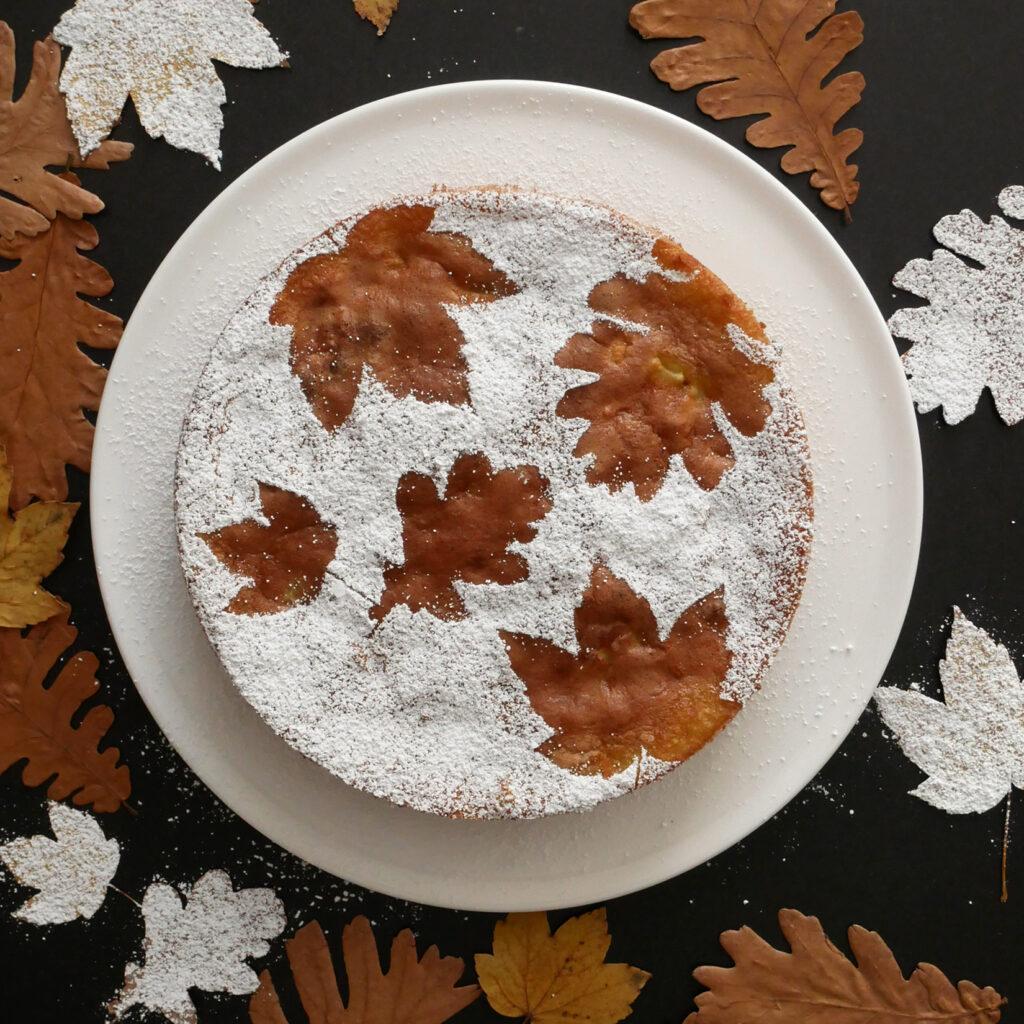Franzoesischer Apfelkuchen - Deko
