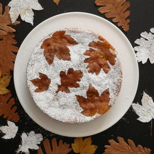Der Winter kommt – Französischer Apfelkuchen mit Puderschnee