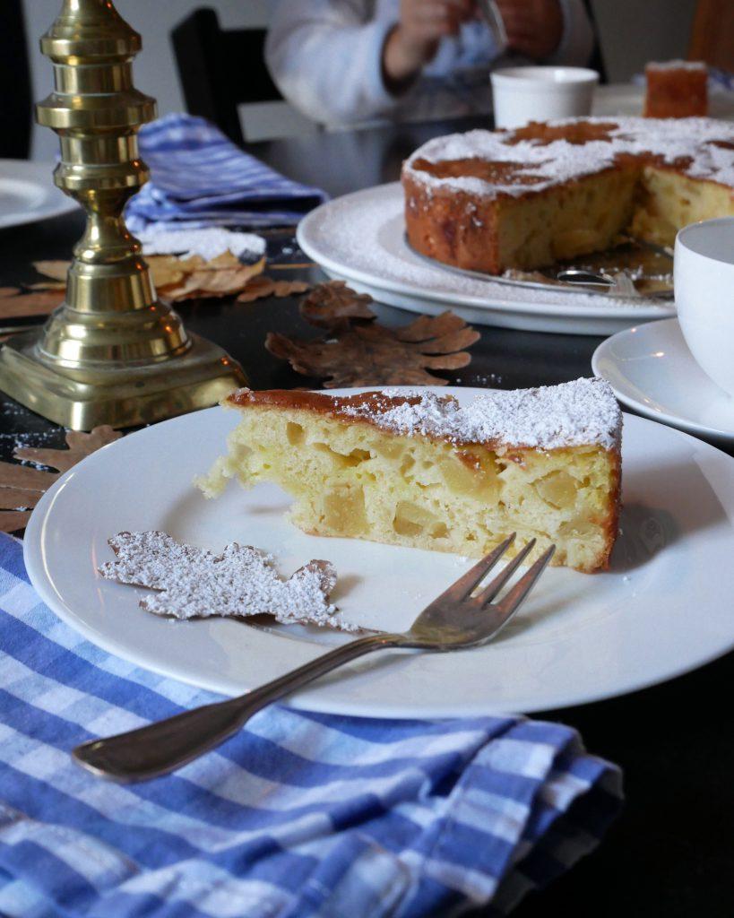 Franzoesischer Apfelkuchen - Kuchenstueck